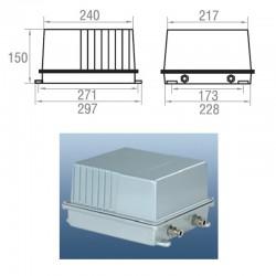 КА 7 (корпус ПРА / серия 24-001) для прожекторов ГО 24-1000-001 и ЖО 24-1000-001
